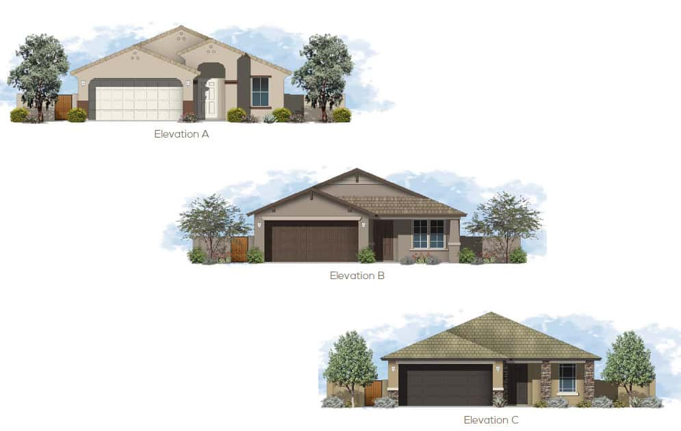 Sanctuary at sarival village brown homes az 1325 sq ft 3 bedrooms 2 baths 2 car garage malvernweather Image collections