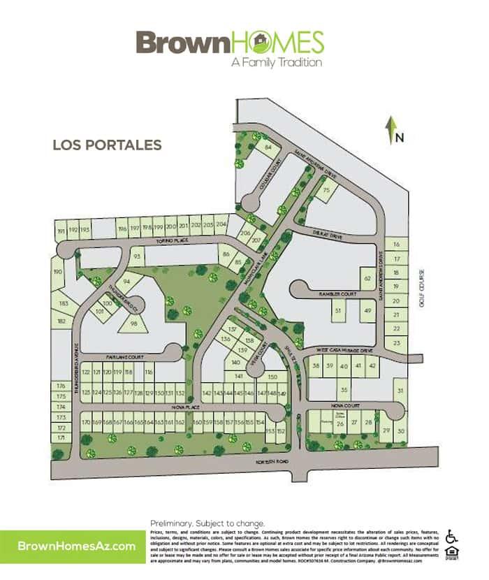 Los Portales Map