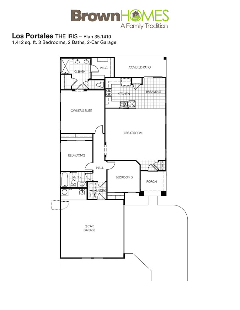 Los Portales Community | Brown Homes AZ on ranch style house plans, ranch house plans with wrap, ranch house with double front door, ranch house front entrance, ranch style modular home plans,